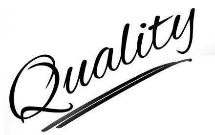 """Label mit Schrift """"Quality&"""""""