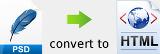 PSD convert to HTML