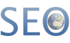 logo with text SEO for search engine optimization