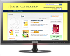 logo for e-commerce with an image of a monitor and a web page of an eShop
