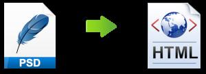 Grafik mit PSD umgesetzt zu HTML