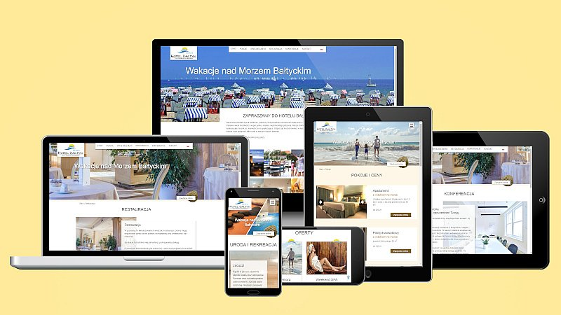 Website case study Hotel Baltic in different screenshots