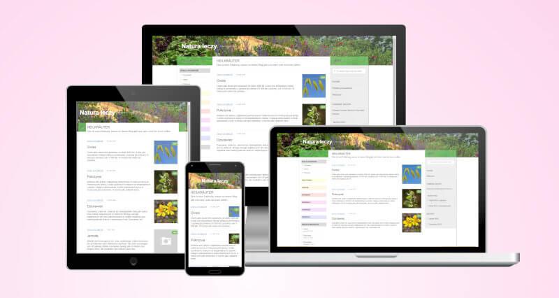Website Zdrowie Blog in different screenshots